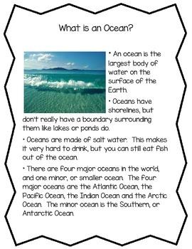 Bodies of Water Informational Readings