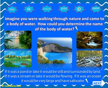 Bodies of Water Interactive PowerPoint