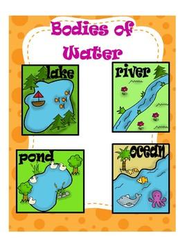 """Bodies of Water/Landforms """"Water & Land"""""""