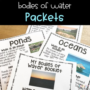 Bodies of Water Packet with Booklets