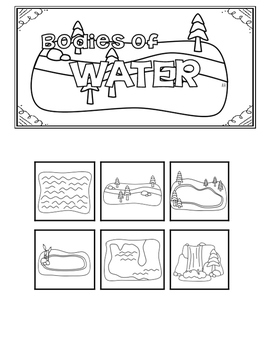 Bodies of Water Tabber Texas TEKS