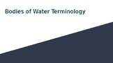Bodies of Water Terminology Powerpoint