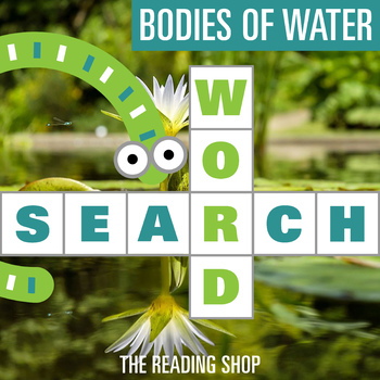 Bodies of Water Word Search - Primary Grades - Wordsearch Puzzle