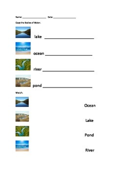 Body Of Water Worksheets | Teachers Pay Teachers