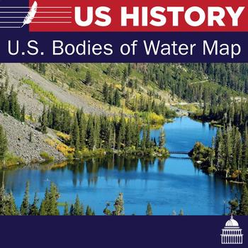 Bodies of Water in USA Map