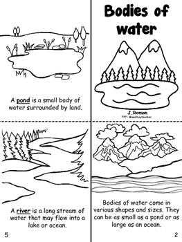 Bodies of water bilingual book