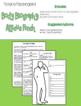To Kill a Mockingbird Extension Activity: Atticus Finch Body Biography