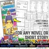 Body Biography, Characterization, Any Novel, Short Story,