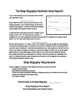 Body Biography Nonfiction Book Report