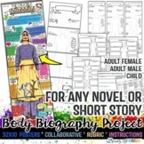 Body Biography, Characterization, Any Novel, Short Story,
