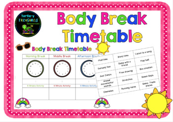 Body Break Timetable
