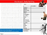 Body Building Wordsearch Puzzle Sheet Keywords Physical Education Health