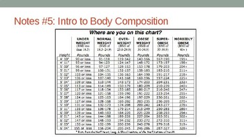 Body Composition Unit Powerpoint