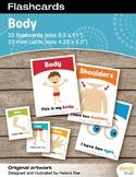 Body Flashcards / Set of 23 / Printable