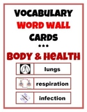 Word Wall Vocabulary Cards: Human Body & Health