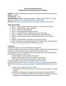 Body Image & Media Literacy (ASCA lesson format - Prezi link attached)