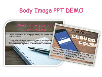 Body Image and Eating Disorders Powerpoint & Note-Taking Worksheet
