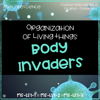 Body Invaders: Organization of Living Things (NGSS MS-LS1-1, MS-LS1-2, MS-LS1-3)