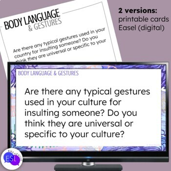 Body Language and Gestures Themed Discussion Topics