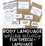 Body Language Social Skills Activity