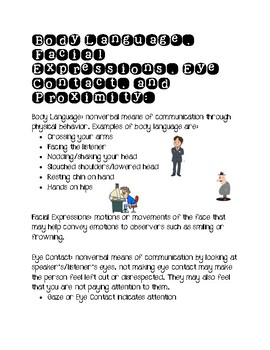 Body Language and Facial Expressions