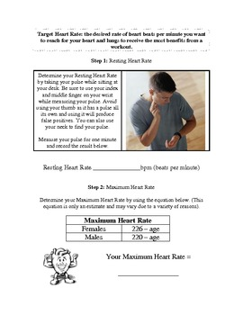 Body Mass Index and Target Heart Rate Worksheet