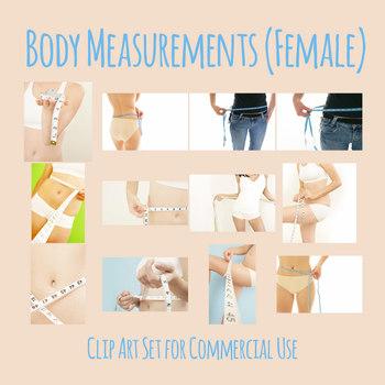 Body Measurements (Female) Photos / Clip Art Set for Commercial Use