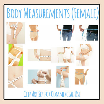 Body Measurements (Female) Photos / Clip Art Set for Commercial Use