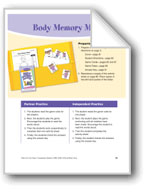 Body Memory Match (Body parts words)
