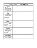 Body Paragraph (Argumentative) Graphic organizer for Interactive Notebooks