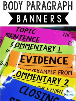 Body Paragraph Banners for Middle School