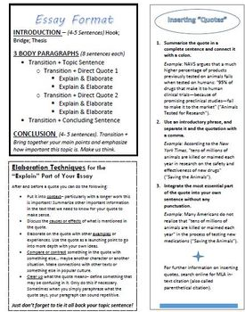 Body Paragraph Peer Checklist with Examples and Bonus Writing Guide