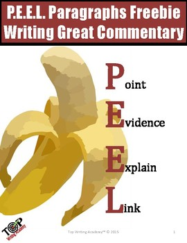 PEEL Body Paragraph Organizer & Sample Paragraphs by TOP Writing Academy