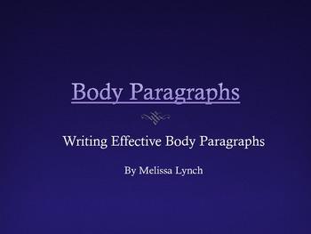 Body Paragraph composition