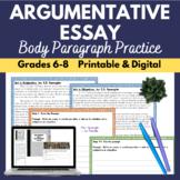 Body Paragraph for Argumentative Essay | Middle School | P