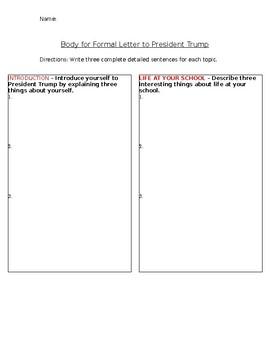 Body Paragraph for President Formal Letter