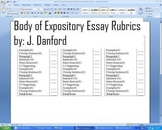Body Paragraphs for Expository Essay Rubric