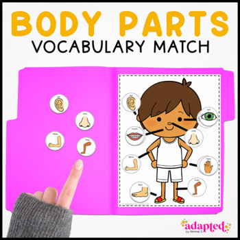 Body Part Vocabulary Folder Game for Early Childhood Special Education
