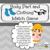 Body Part and Clothing Category Match Game for Language De