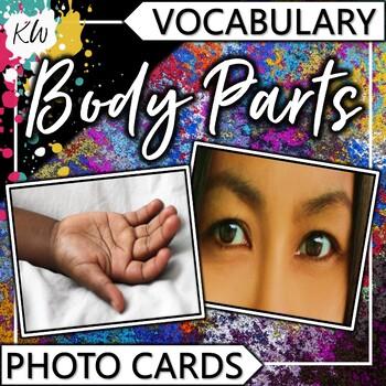 Body Parts Vocabulary Photo Flashcards