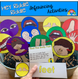 "Body Parts Activities:  ""Hey Riddle Riddle Sensory Bin Riddles"""