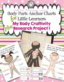 Body Parts Anchor Charts For Little Learners & Craftivity Research Project!