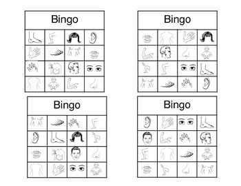 Body Parts Bingo ESL PDF