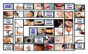 Body Parts Legal Size Photo Board Game
