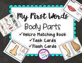 Body Parts Book, Task Cards and Flash Cards
