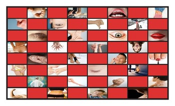 Body Parts Checker Board Game