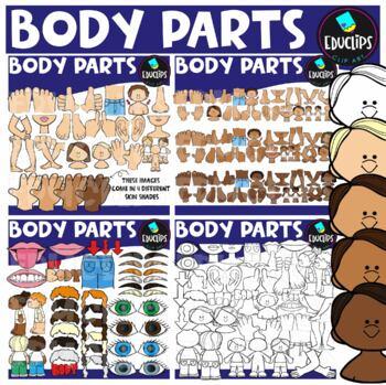 Body Parts Clip Art Bundle {Educlips Clipart}