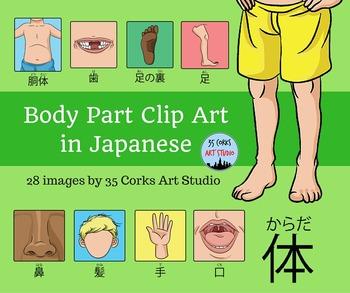 Body Parts Clip Art - Japanese Version