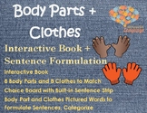 Body Parts + Clothes Interactive Book, Sentence Formulation, Autism, Speech/Lang