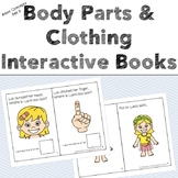 Body Parts & Clothing Interactive Books - Basic Concepts - Boom Cards™